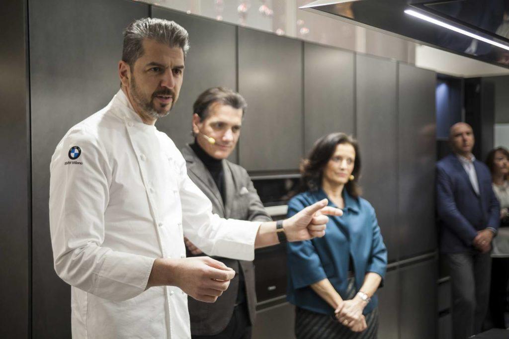 L'intervento dello chef  Andrea Berton all'incontro organizzato da Ambiente Cucina e Arrital