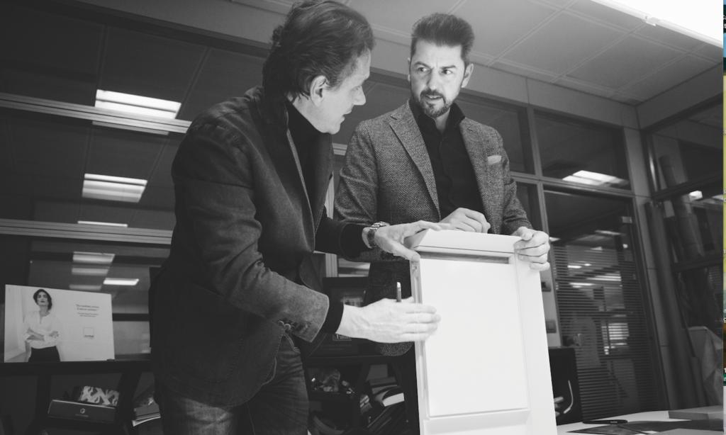 Da sinistra, l'architetto Franco Driusso, art director di Arrital, e lo chef Andrea Berton