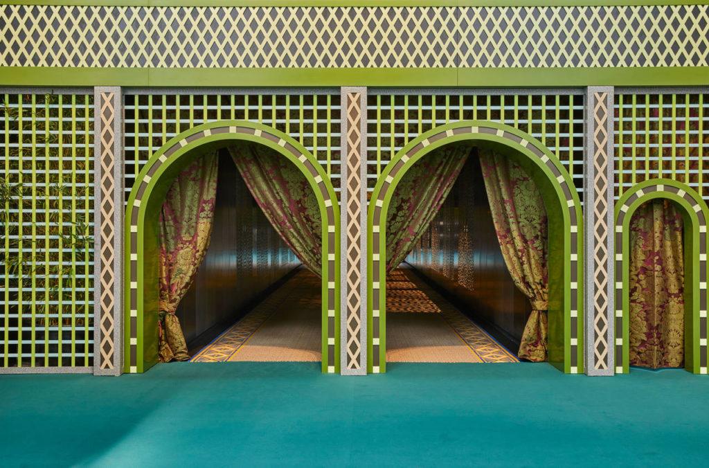 The Gateway, l'ingresso alla mostra, disegnato da Christoph Radl