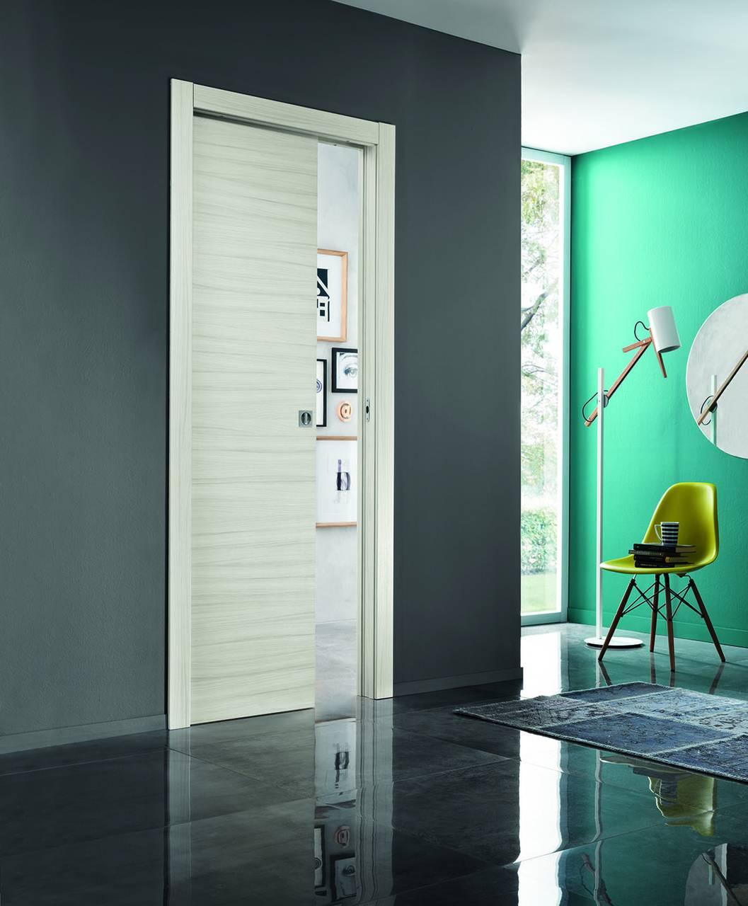 Comfort by Scrigno, modello PRIMA scorrevole in palissandro bianco