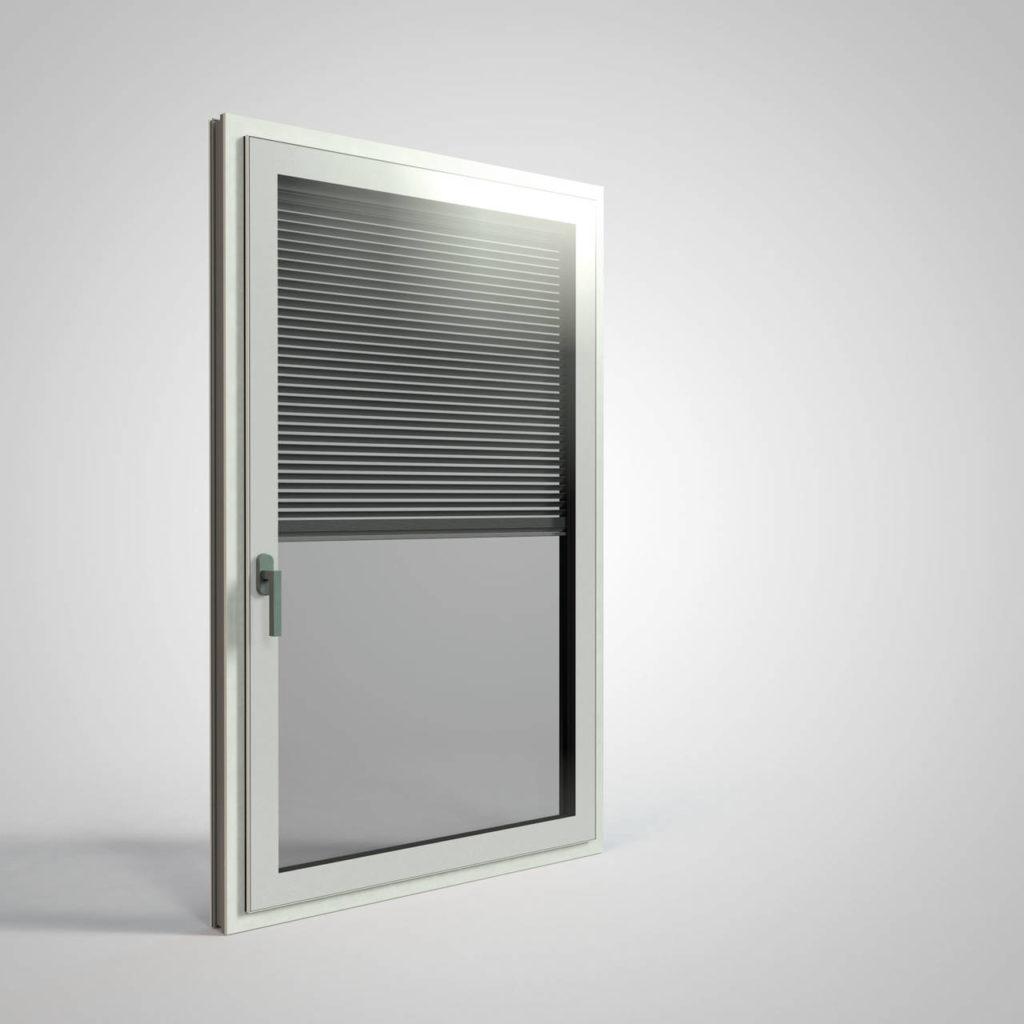 Nuovo serramento Cristal Twin-Line con veneziana ispezionabile