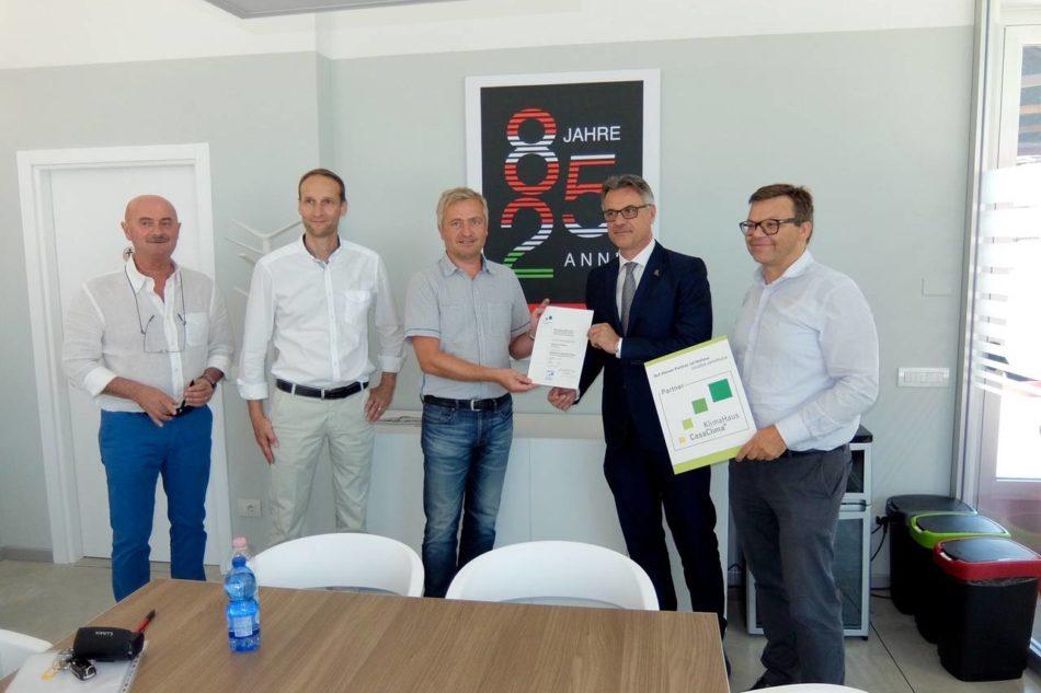 Internorm ha ricevuto una nuova certificazione CasaClima