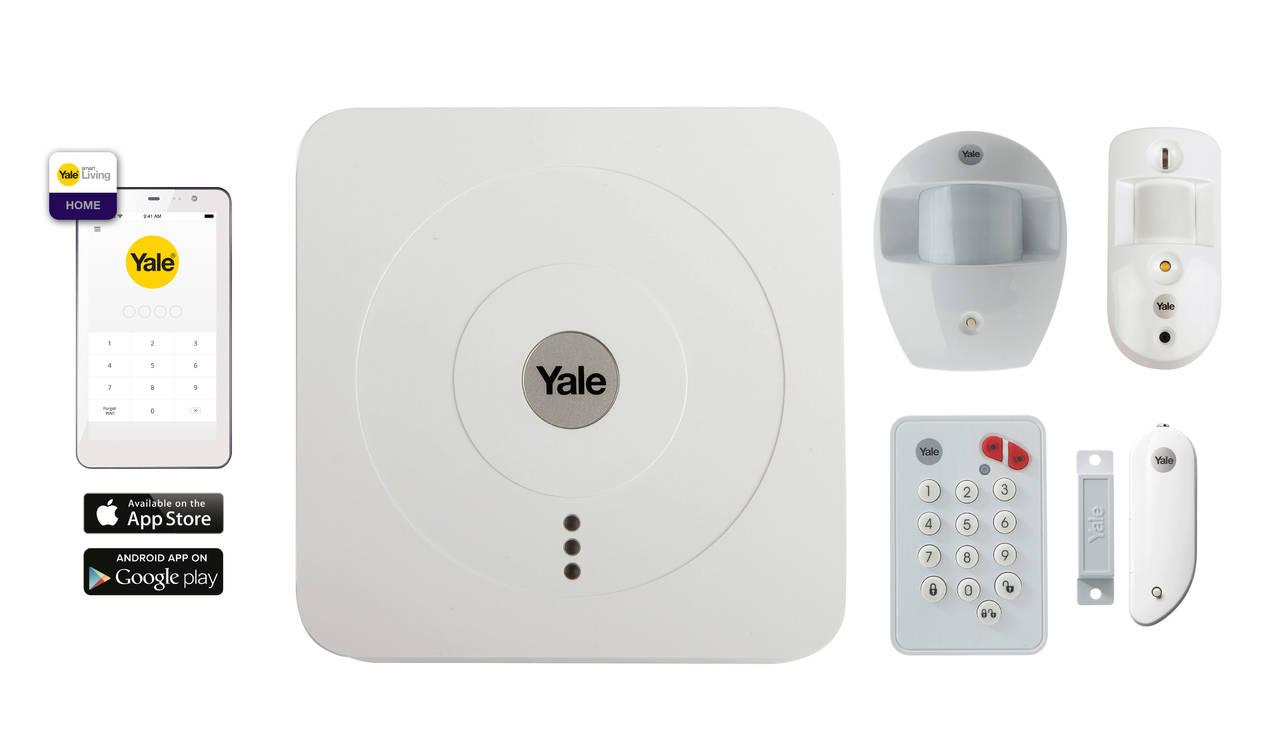 Il kit Yale è un innovativo sistema di sicurezza che consente di monitorare in ogni momento la propria casa attraverso lo smartphone