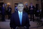 Il Presidente Obama in posa per essere ripreso dagli scanner 3D
