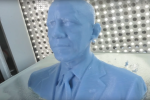 Il busto stampato in 3D del Presidente Obama