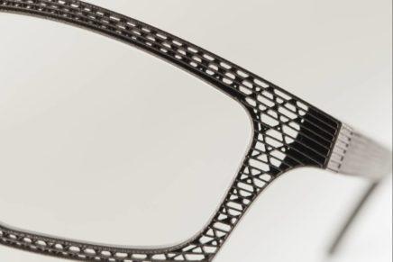 Gli occhiali di Hoet in titanio nascono in 3D