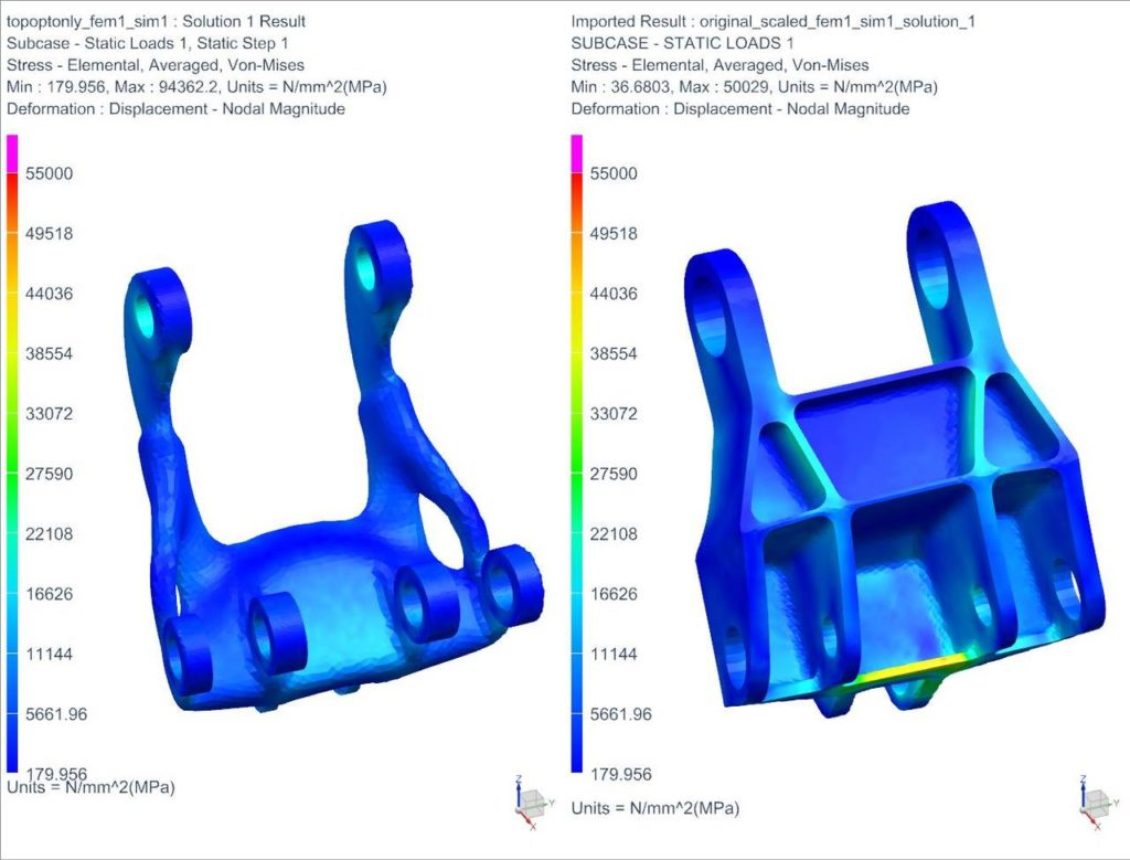 Siemens Topology Optimization - compare