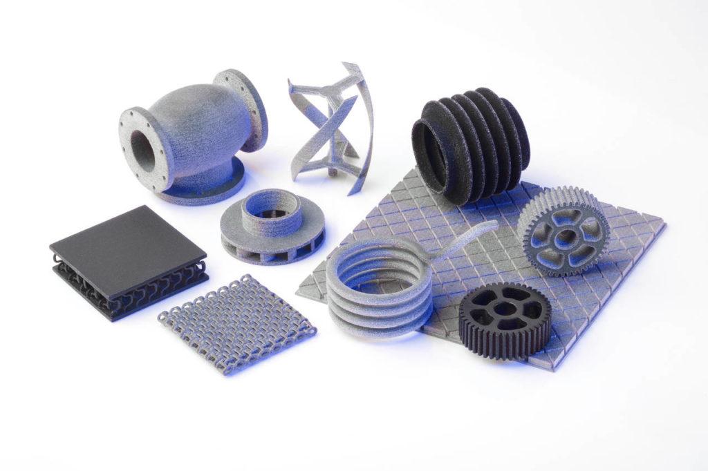 Alcune parti in 3D realizzate da Xaar con la tecnologia HSS