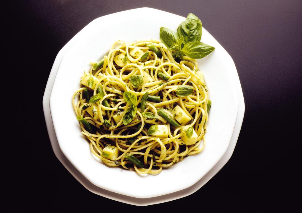 pasta spaghetti al pesto con patate e fagiolini ALIRIC029CK03