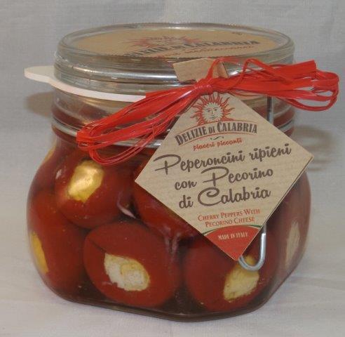 peperoncini ripiueni con pecorino g. 500 ermetico