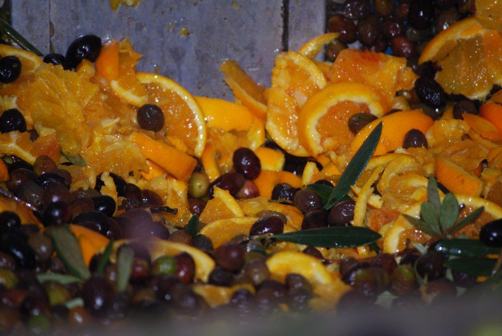 9 arance nel frantoio