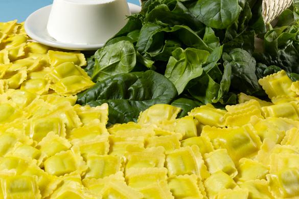 Ravioli ricotta e spinaci