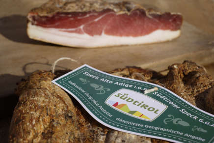 The South Tyrol IGP Speck increased by 9.4% in 2014