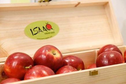 Melinda signs a deal with Kiku for the ISAAQ apple