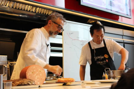 show cooking Massimo Bottura