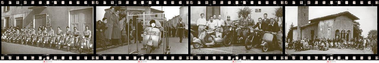 Il Centro, Arese, foto storiche della mostra dedicata alla storia della Vespa