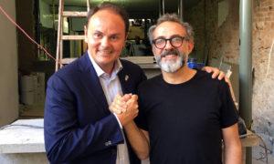 Matteo Lunelli nel quartiere Lapa di Rio de Janiero visita insieme a Massimo Bottura il cantiere di RefettoRio, progetto supportato dalle Cantine Ferrari
