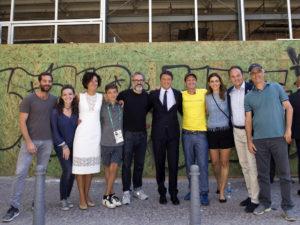 Visita in anteprima del RefettoRio di Massimo Bottura del Presidente del Consiglio Matteo Renzi
