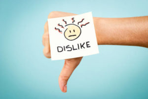 errore dislike sbaglio sentiment