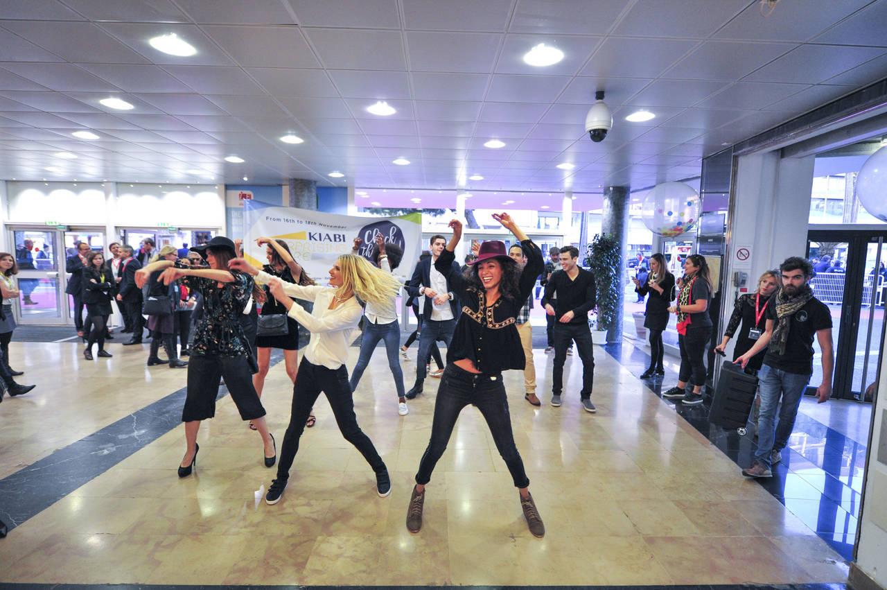 Il flash mob di Kiabi, uno dei momenti più originali della 21ma edizione di Mapic