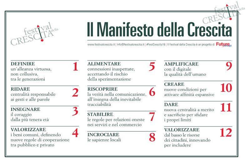 festival crescita manifesto