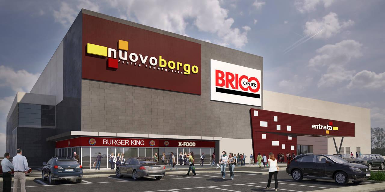 centro commerciale Nuovoborgo, nel rendering dello studio architettonico Emanuale Altea