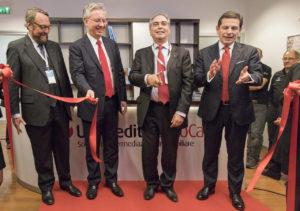 Da destra a sinistra: Gianni Franco Papa (direttore generale Unicredit), e Giovanni Chelo, amministratore delegato di Unicredit SubitCasa