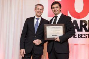 Sonae Sierra HOF Award: a destra  Catalin Cucian, Manager del centro commerciale ParkLake