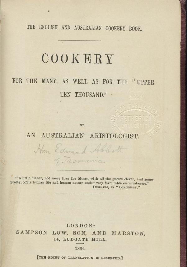 TheEnglishandAustralianCookery