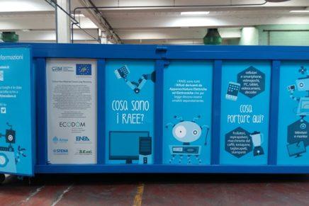 Raee: a Milano la raccolta anche con quattro container