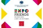 Sulle vetrine di Milano arriva il logo Expo friends per i turisti