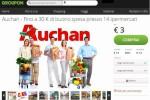Partnership tra Auchan e Groupon per buoni spesa scontati