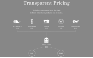 transparent pricing prezzo trasparente