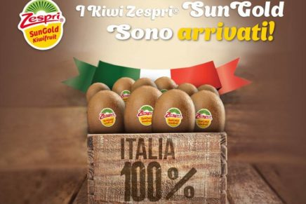 Zespri SunGold: sugli scaffali è in arrivo la produzione italiana