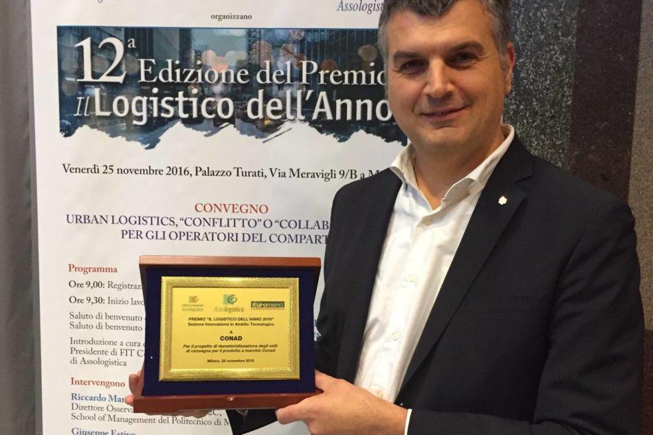 conad premio logistico Andrea Mantelli, responsabile Supply Chain Conad