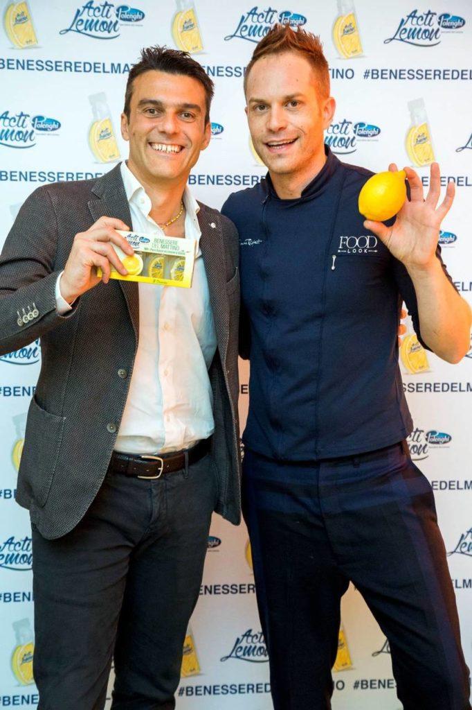 Marco Polenghi con lo Chef Simone Rugiati
