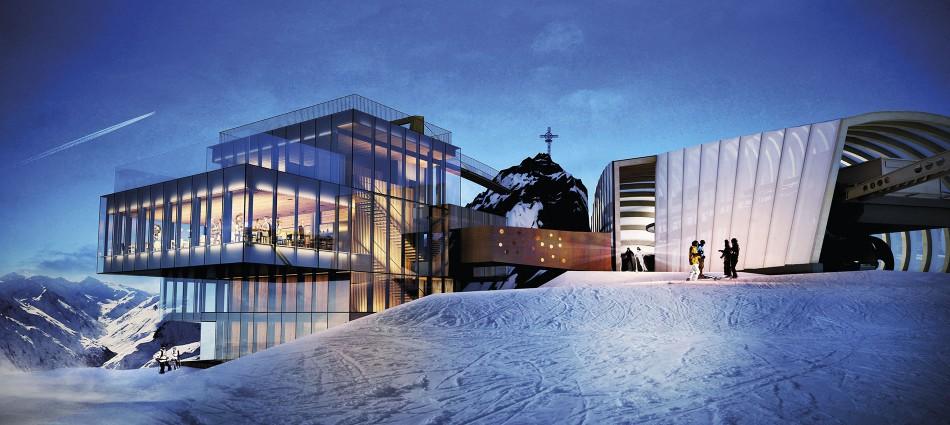 A 3000 metri di quota nasce ice q ristorante gourmet con for Garage con ponte in cima