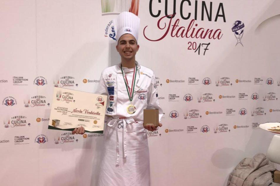 Il giovane Nicola Venturella di Monreale è medaglia d'oro ai Campionati della Cucina Italiana